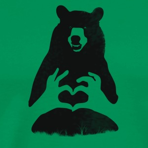 Bear Grizzly Bear Brown Bear Heart wilde natuur camp - Mannen Premium T-shirt