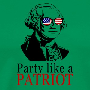 Feiring som en patriot! George Washington Gift - Premium T-skjorte for menn