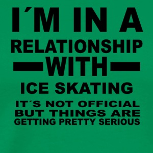 relationship with ICE SKATING - Männer Premium T-Shirt