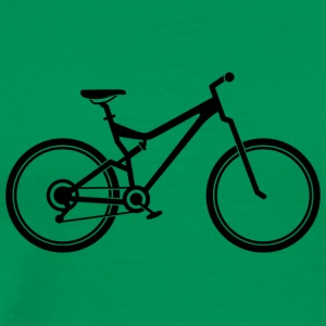 Mountainbike - Premium-T-shirt herr