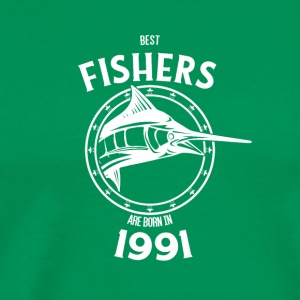 Present for fishers born in 1991 - Men's Premium T-Shirt