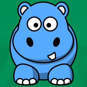 Lustiges Nilpferd Happy Hippo Comic Kinder - Männer Premium T-Shirt