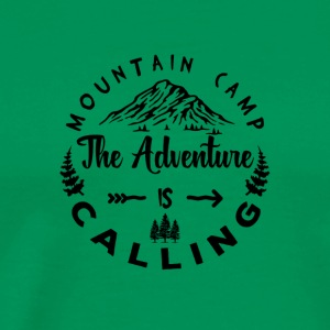 Mountain Camp The Adventure is Calling - Mannen Premium T-shirt