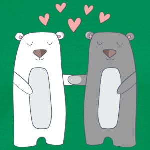 Bears in Love - Männer Premium T-Shirt