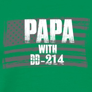 Papa with DD 214 - Männer Premium T-Shirt