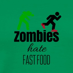 Zombies hate when their food run - Men's Premium T-Shirt