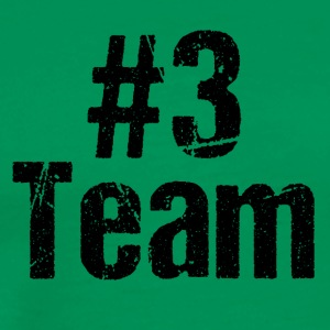 Team Teamplayer Hashtag Number 3 three team - Men's Premium T-Shirt