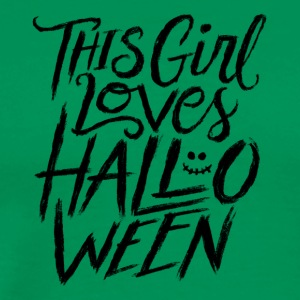 Halloween. Women. Girl. Love. Autumn. grusel - Men's Premium T-Shirt