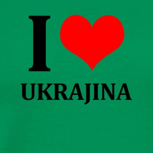 I Love Ukrajina - Men's Premium T-Shirt