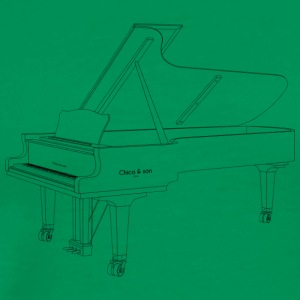 piano - Premium T-skjorte for menn