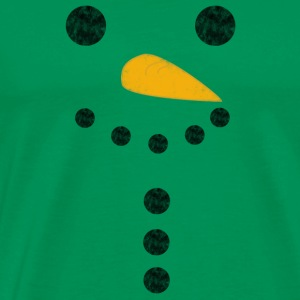 Snowman distressed - Premium T-skjorte for menn