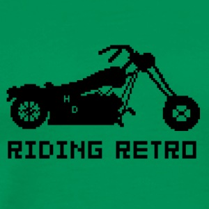 Riding Retro - Mannen Premium T-shirt