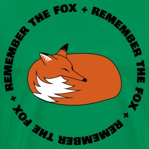Remember The Fox - Herre premium T-shirt