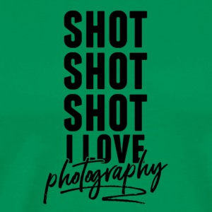 Shot shot shot I love photography - Men's Premium T-Shirt