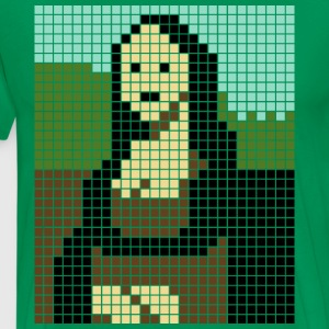 Monalisa pixel art - Men's Premium T-Shirt