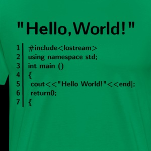 Hello World Program - Programmer T-Shirt