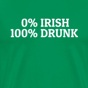 0% Irish 100% Drunk Happy St Patricks Day Shirt