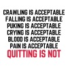 Crawling Is Acceptable  - Frauen Premium T-Shirt