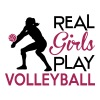 Real girls play Volleyball - T-shirt Premium Femme