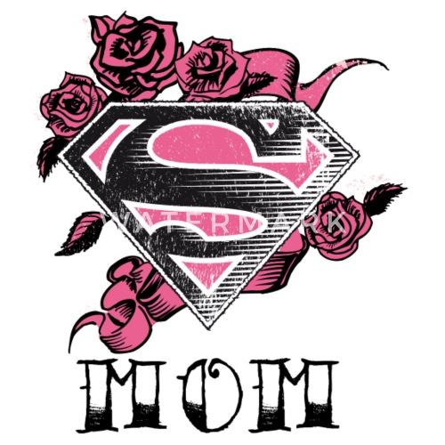 superman s shield mom tee shirt femme de superman. Black Bedroom Furniture Sets. Home Design Ideas