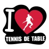 i love tennis de table - T-shirt Premium Femme
