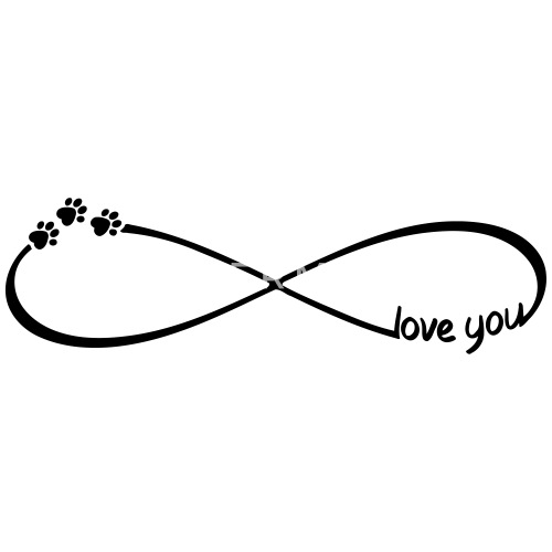 Infinity Symbol Love You Dogs Cats Paws By Sylltra Spreadshirt