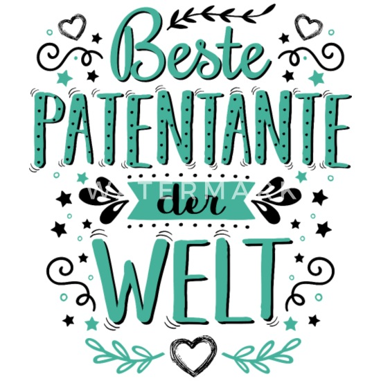 Beste Patentante Der Welt Spruch Werdende Geschenk Frauen Premium T Shirt Weiß