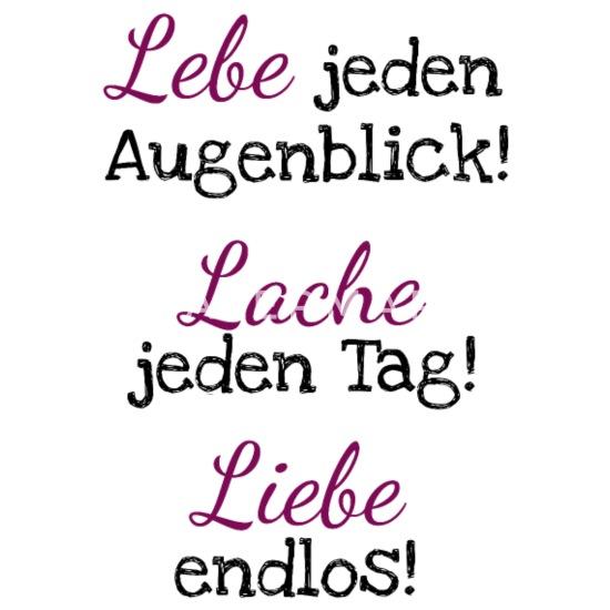 Lebe Liebe Lache Motivation Gute Laune Spruch Frauen Premium T