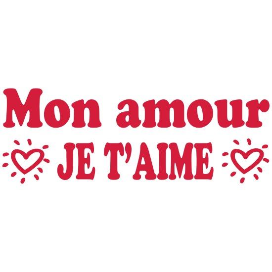 Mon Amour Je Taime Camiseta Premium Mujer Spreadshirt