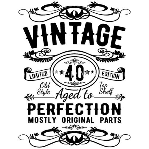 40ste Verjaardag 40 Jaar Vintage Cadeau Vrouwen Premium T Shirt