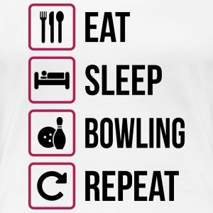 Eat Sleep Bowling Repeat - Frauen Premium T-Shirt