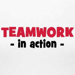 Teamwork in Action - Women's Premium T-Shirt