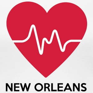 Heart New Orleans - Dame premium T-shirt