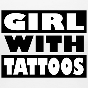 Girl with tattoos - Women's Premium T-Shirt