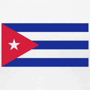 National Flag Of Cuba - Premium T-skjorte for kvinner