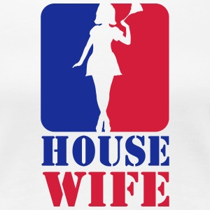 Sexy Housewife Housewife Woman Putzfrau Logo Sport 2 - Women's Premium T-Shirt