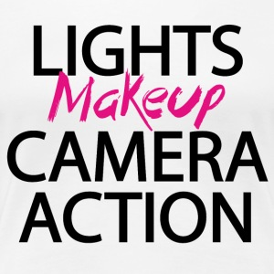 Licht camera actie make-up - Vrouwen Premium T-shirt