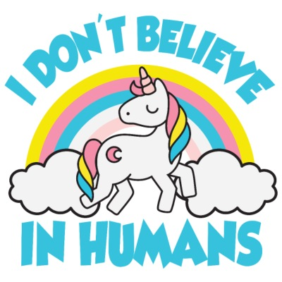 Einhorn: I don't believe in humans