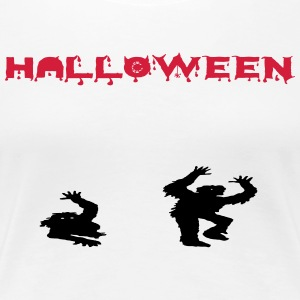 halloween zombies - Premium-T-shirt dam