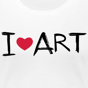I love Art - Frauen Premium T-Shirt