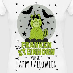 The Frankensteinhorn wishes Happy Halloween schw - Women's Premium T-Shirt