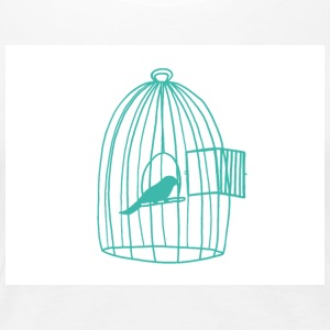 caged Bird - Premium-T-shirt dam