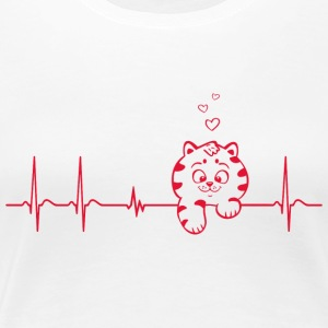 Heartbeat Heartbeat cat hangover gift child - Women's Premium T-Shirt