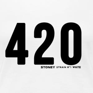420 No.1 Stam WHITE - Premium-T-shirt dam