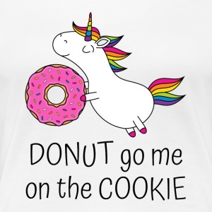 Unicorn Donut Gå Me On The cookie med smultring - Premium T-skjorte for kvinner