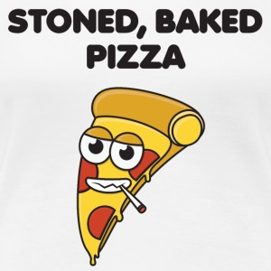 Stoned, bagt Pizza - Dame premium T-shirt