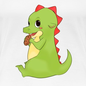 Cookie Dino - Frauen Premium T-Shirt