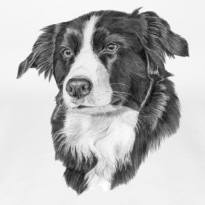 border collie S - Dame premium T-shirt