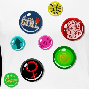 Pin Fake Buttons Chica Girl Power