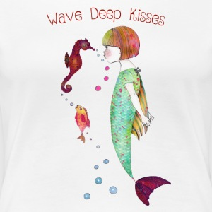Wave Deep Kisses - Frauen Premium T-Shirt
